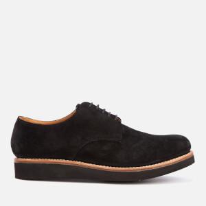 Grenson Men's Curt Suede Derby Shoes - Black