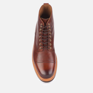 Grenson Men's Joseph Hand Painted Leather Lace Up Boots - Tan: Image 3