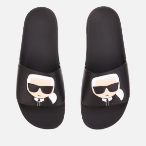 Karl Lagerfeld Men's Kondo Karl Ikonik Slide Sandals - Black