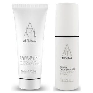 Alpha-H Exfoli-Mate Duo - Gentle Daily Exfoliant 50g & Micro Cleanse Super Scrub 100ml