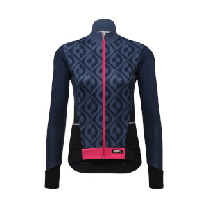 Santini Women's Coral Long Sleeve Jersey - Violet