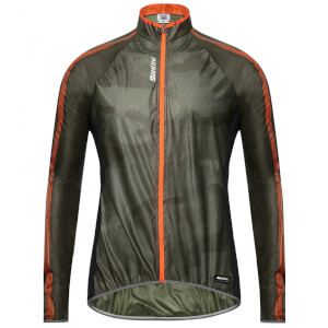 Santini Fine Windbreaker Jacket - Green