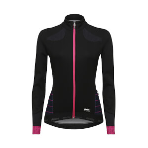 Santini Women's Coral Winter Windstopper Jacket - Black/Violet