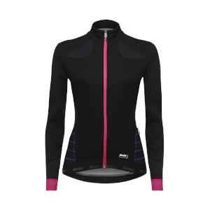 Santini Women's Coral Winter Windstopper Jacket - Black/Violet
