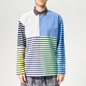 JW Anderson Men's Patchwork Rugby - China Blue