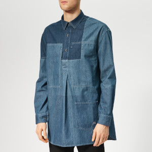 JW Anderson Men's Patchwork Denim Shirt - Mid Blue