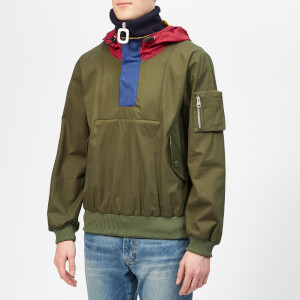 JW Anderson Men's Funnel Neck Half Zip Jacket - Khaki