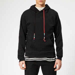 JW Anderson Men's Beaded String Hoody - Black