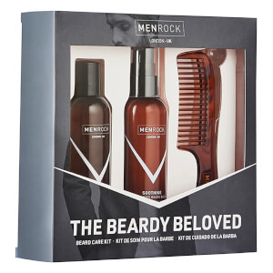 Men Rock The Beardy Beloved Starter Beard Care Kit - Soothing Oak Moss (Worth £30.95): Image 3