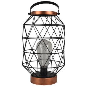 Traditional Metal Lantern with Led Bulb (29cm)