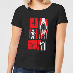 American Horror Story All Monsters Are Human Panels Damen T-Shirt - Schwarz