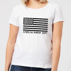 Camiseta American Horror Story Black Flag Skulls - Mujer - Blanco