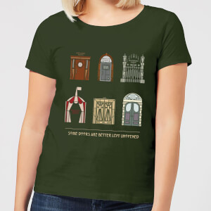 Camiseta American Horror Story Some Doors Quote - Mujer - Verde oscuro
