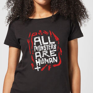 American Horror Story All Monsters Are Human Tools Damen T-Shirt - Schwarz