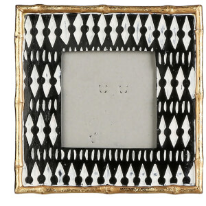 Tribal Small Photo Frame - Black