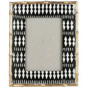 Tribal Large Photo Frame - Black