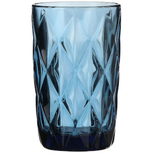 Boulogne Long Glass Tumbler - Blue from I Want One Of Those