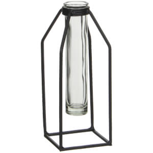 Dhaka Single Flower Vase - Black
