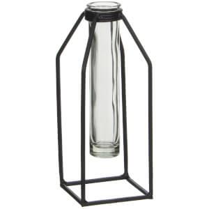 Dhaka Single Flower Vase - Black