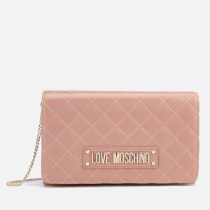 Love Moschino Women's Quilted Chain Shoulder Bag - Pink