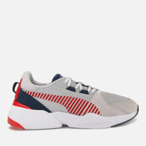 Puma Men's Zeta Suede Trainers - Glacier Grey/Peacoat