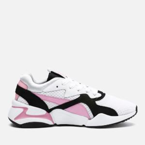 Puma Women's Nova 90's Block Trainers - Puma White/Pale Pink
