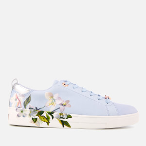 Ted Baker Women's Orosa Floral Low Top Trainers - Graceful Blue