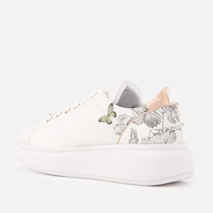 Ted Baker Women's Ailbe 3 Leather Flatform Trainers - White Narnia: Image 2