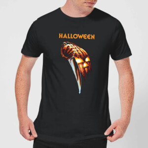 Halloween Pumpkin Men's T-Shirt - Black