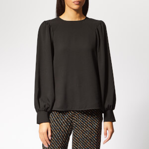 Ganni Women's Clark Blouse - Black