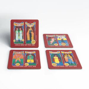 American Horror Story Freakshow Painting Coasters