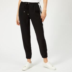 MICHAEL MICHAEL KORS Women's Stripe Track Pants - Black/White