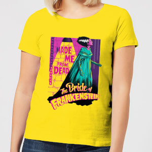 Universal Monsters Retro Bride Of Frankenstein Women's T-Shirt - Yellow