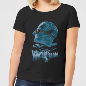 Universal Monsters The Invisible Man Illustrated Women's T-Shirt - Black