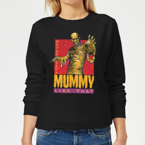 Universal Monsters The Mummy Retro Women's Sweatshirt - Black