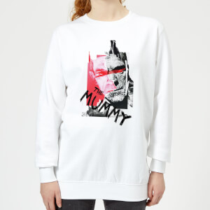 Sweat Femme La Momie Collage - Universal Monsters - Blanc