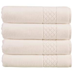 Christy Serenity 4 Piece Towel Bale Set - White