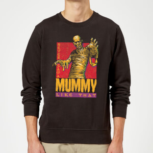 Universal Monsters Die Mumie Retro Pullover - Schwarz