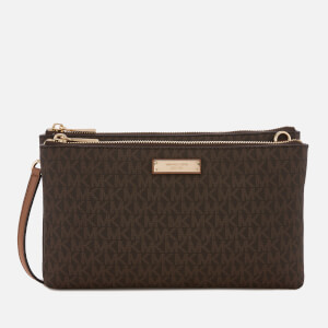 MICHAEL MICHAEL KORS Women's Adele Double Zip Cross Body Bag - Brown