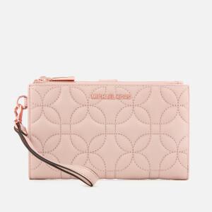 MICHAEL MICHAEL KORS Women's Double Zip Wristlet - Soft Pink Fluro