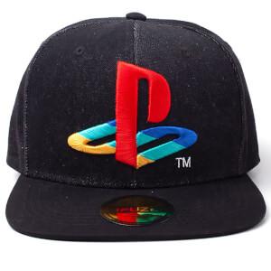PlayStation Logo Denim Snapback Cap - Black