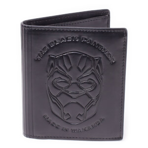 Marvel Black Panther Men's Debossed Leather Trifold Wallet - Grey
