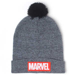Marvel Men's Logo Beanie Hat - Grey