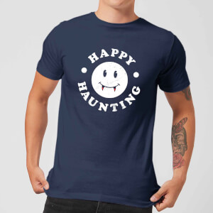 Happy Haunting Men's T-Shirt - Navy