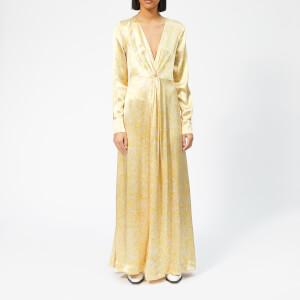 Ganni Women's Cameron Maxi Dress - Tapioca