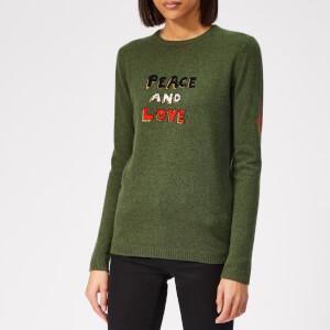 Bella Freud Women's Peace and Love Cashmere Jumper - Khaki