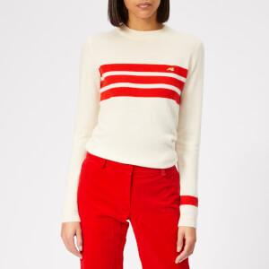 Bella Freud Women's Darker Stripe Cashmere Jumper - Ivory