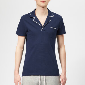 Orlebar Brown Men's Donald Piping Polo Shirt - Navy/White