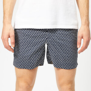 Orlebar Brown Men's Bulldog Sport Cerchio Swim Shorts - Navy