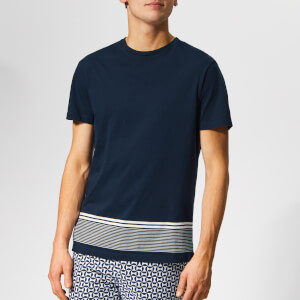 Orlebar Brown Men's Sammy Hem Stripe T-Shirt - Navy/White